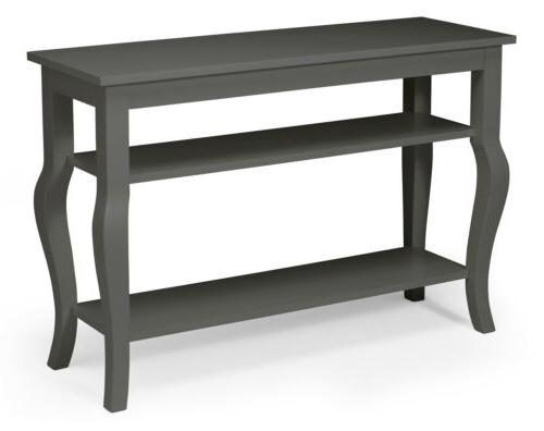 lillian wood console table with curved legs