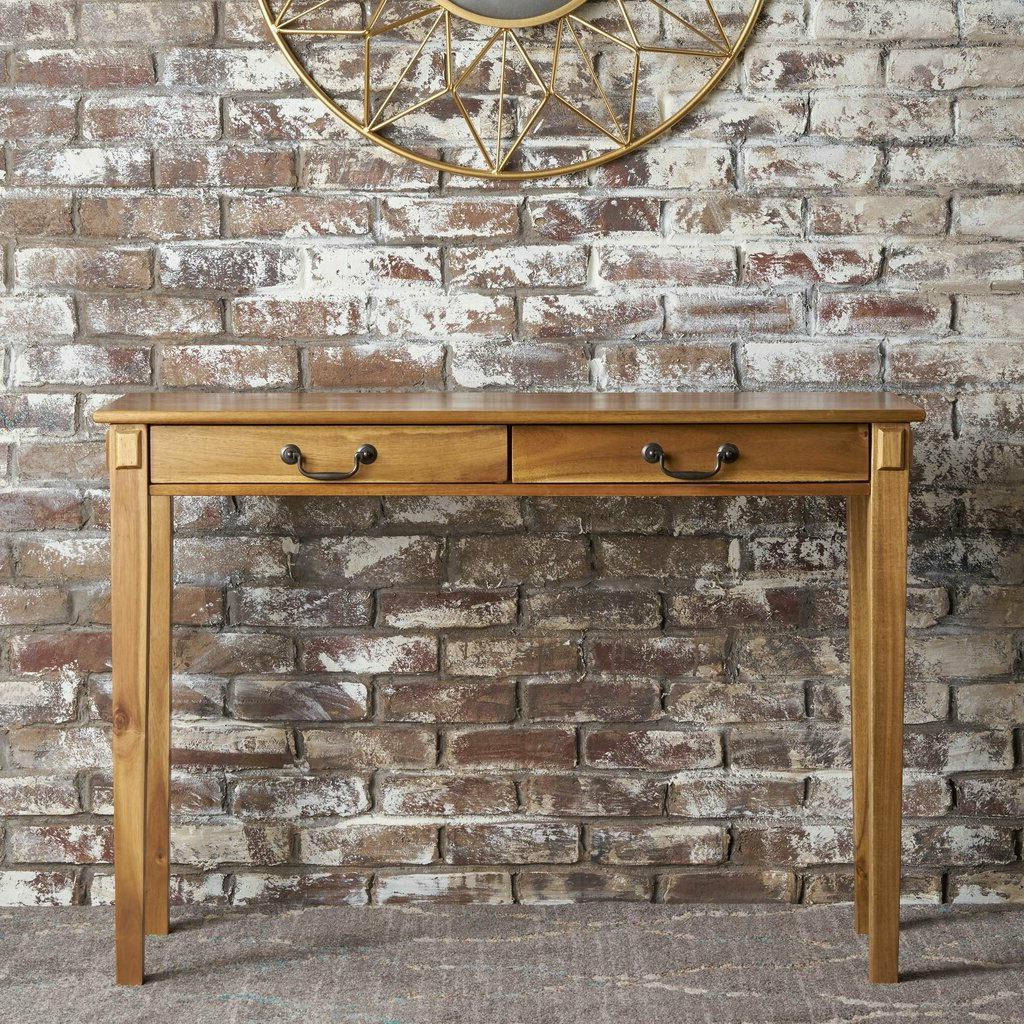 Rustic Console Table For Entryway Living Room Hall Drawers W
