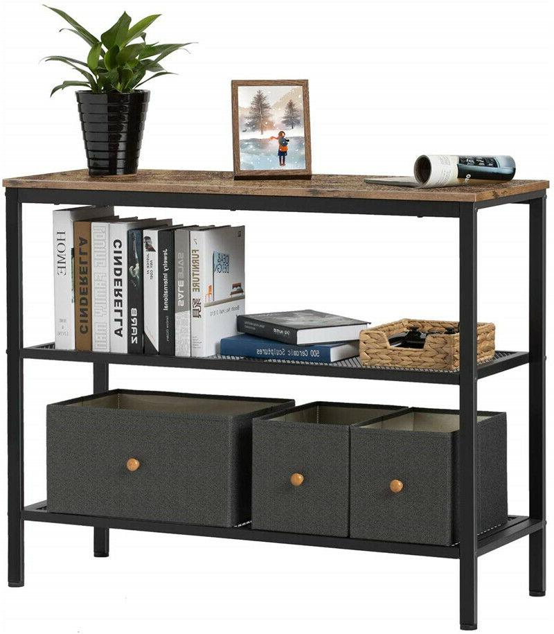 Living Room Table Console Open Storage