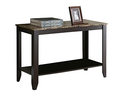 Monarch Top Console Table, 44-Inch, Cappuccino