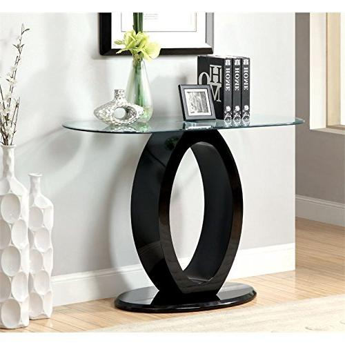 mason glass console table
