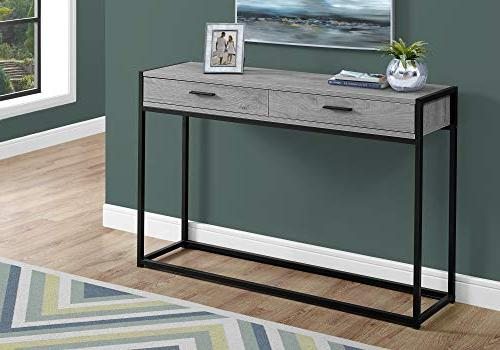 Monarch Accent Table in Gray and Black