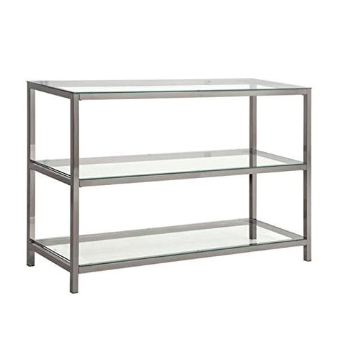 metal glass console table black