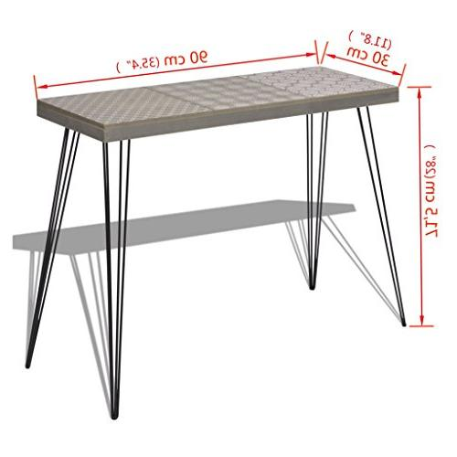 """Festnight Table with Stable Metal Legs 35.4""""x 28"""""""