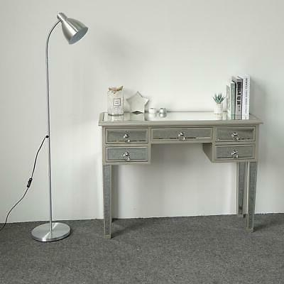 New Modern Mirrored Console Table Makeup Vanity Desk with 5
