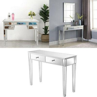 mirrored console table hall side table w