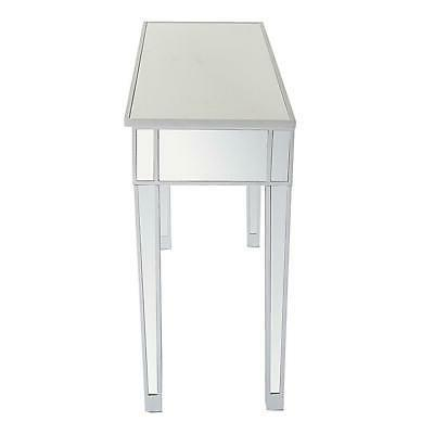 Modern 2-Drawers Mirrored Console Table Vanity Table