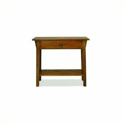 mission console table in russet finish
