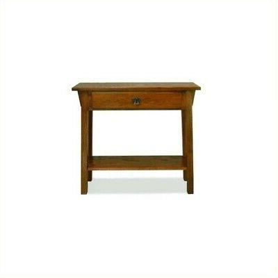 mission console table in russet