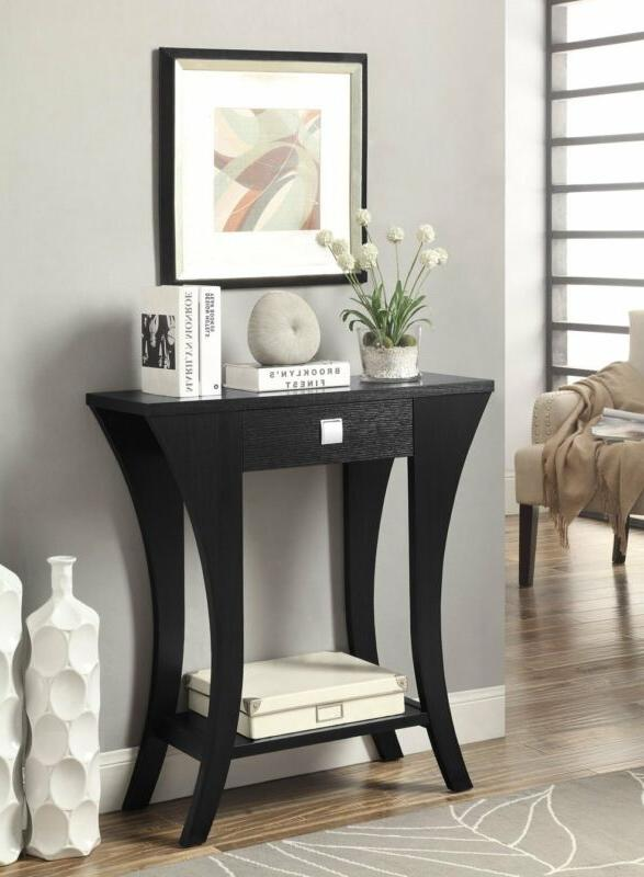 modern console sofa entry table with storage