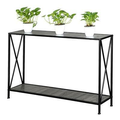 Modern Console Table/Desk Stand Sofa Entryway Hall Furniture 2-Tiers