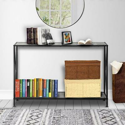 Modern Stand Sofa Entryway Furniture Black 2-Tiers