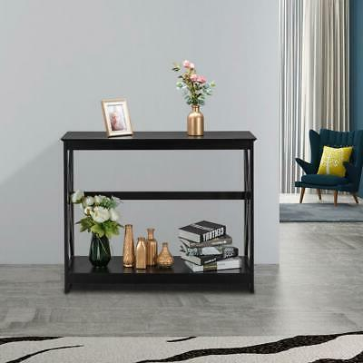 New MDF Console Table Sofa Accent with Shelf Stand Entryway