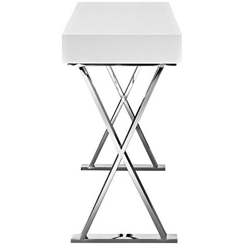 Modern Living Lounge Console Wood Stainless Steel