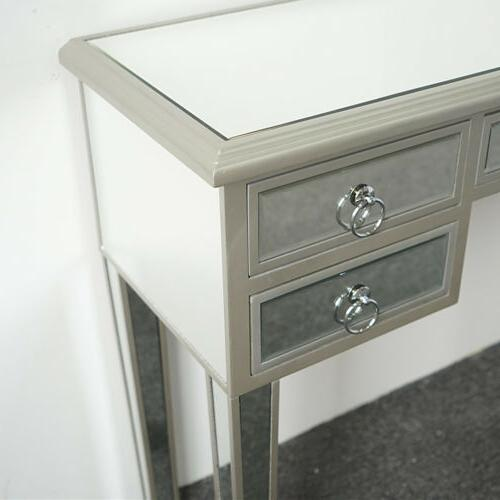 Modern Mirrored Console Bedroom Make-up Table Drawer