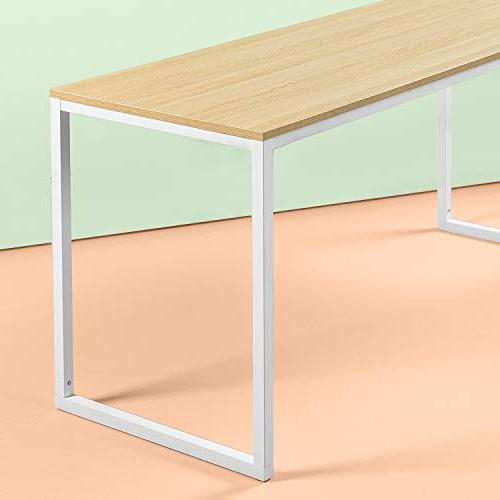 Zinus Modern Studio Collection Soho / Table Only /Office Desk Computer Table, White