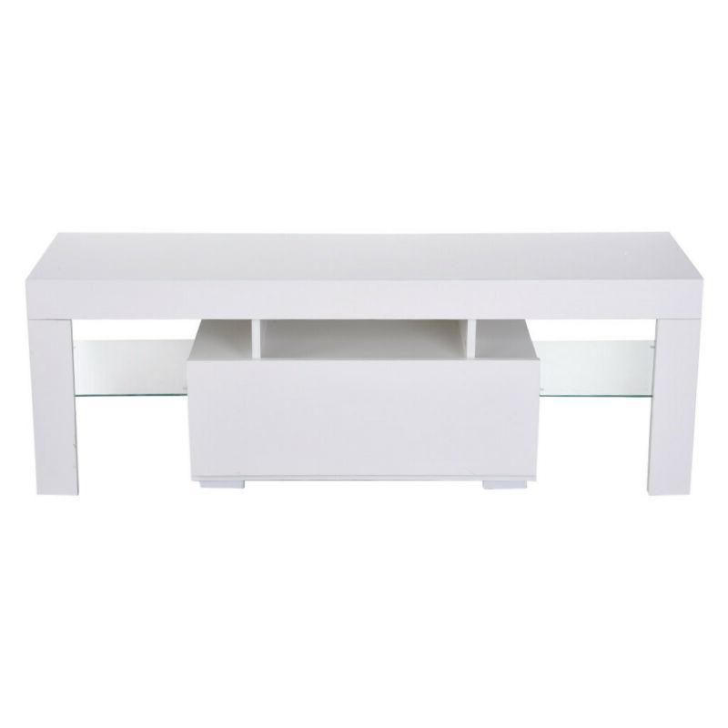 Modern 51'' LED 2 Drawers Console Table