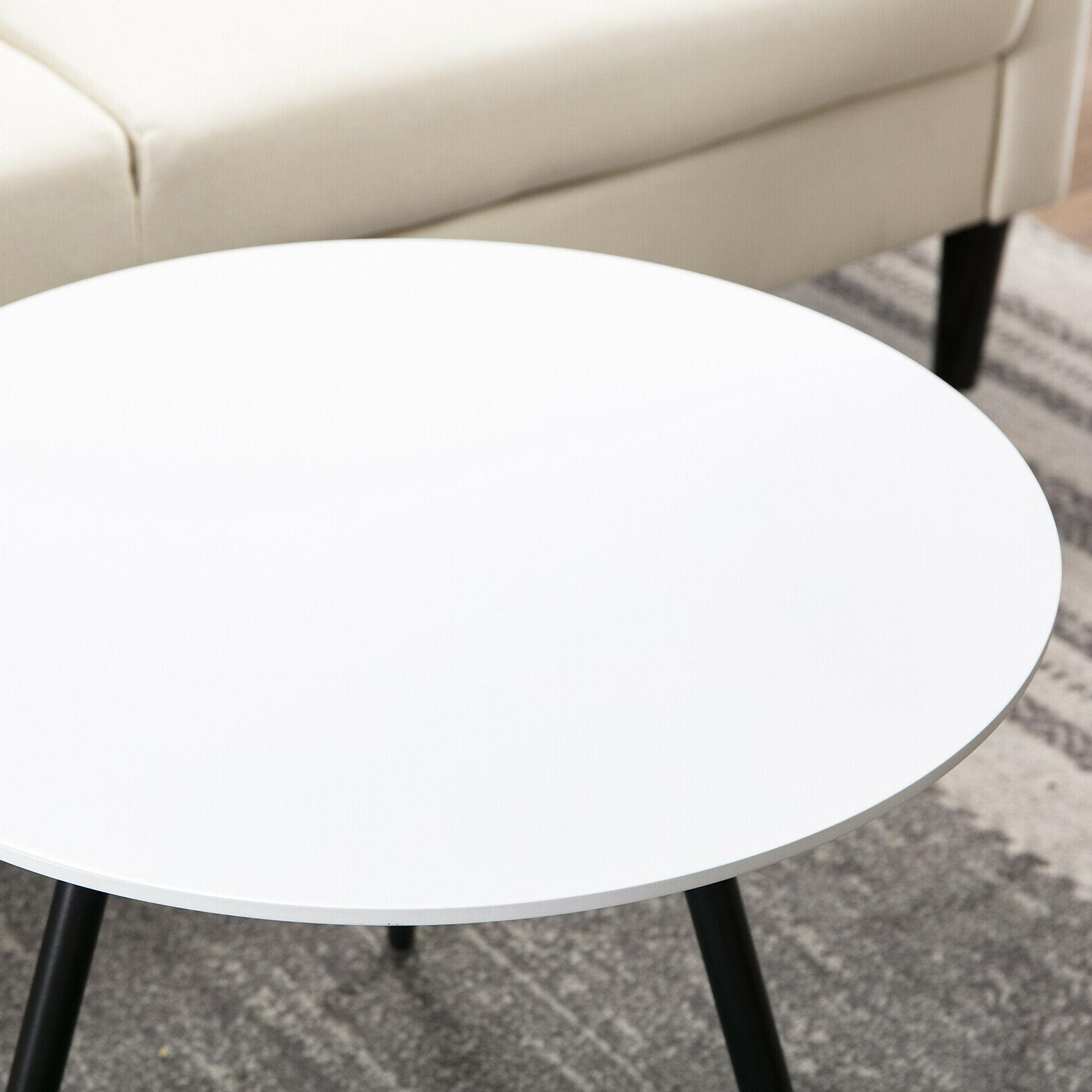 Modern Round Tables Coffee Side Table White Room