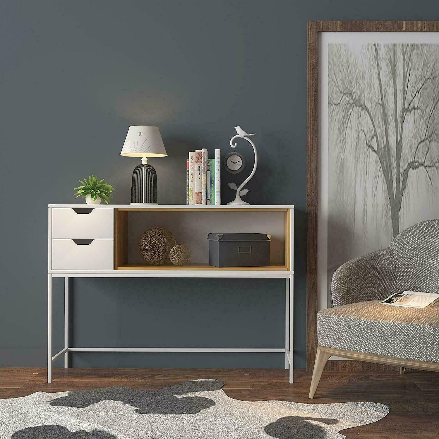 Narrow Entryway Furniture With Storage Drawers