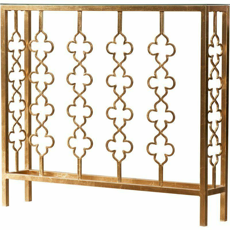 Narrow French Farmhouse Gold Console Table