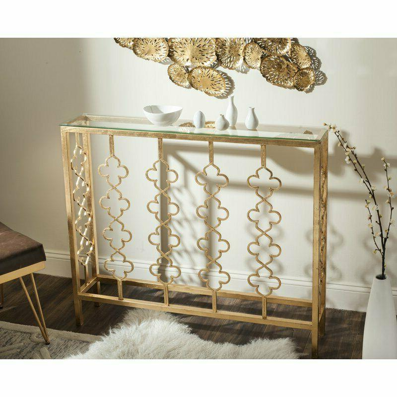 Narrow French Gold Console Hall Table