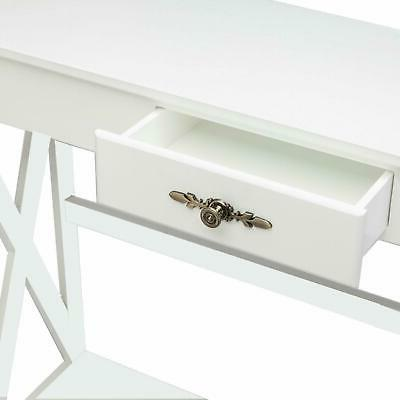 Accent Entryway Sofa Table Shelf Drawers