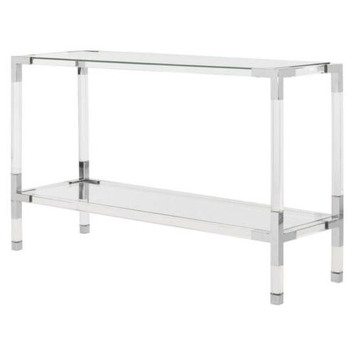 new couture ohara console silver acrylic