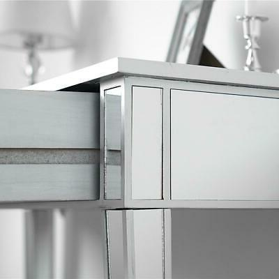 Modern 2-Drawers Table Silver Table