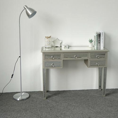 new modern mirrored console table makeup vanity