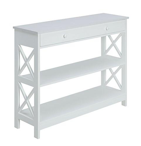Convenience Oxford Console Table, White