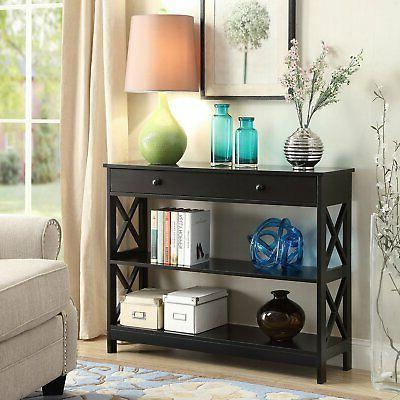 Convenience Oxford 1-Drawer Console Table, Multiple