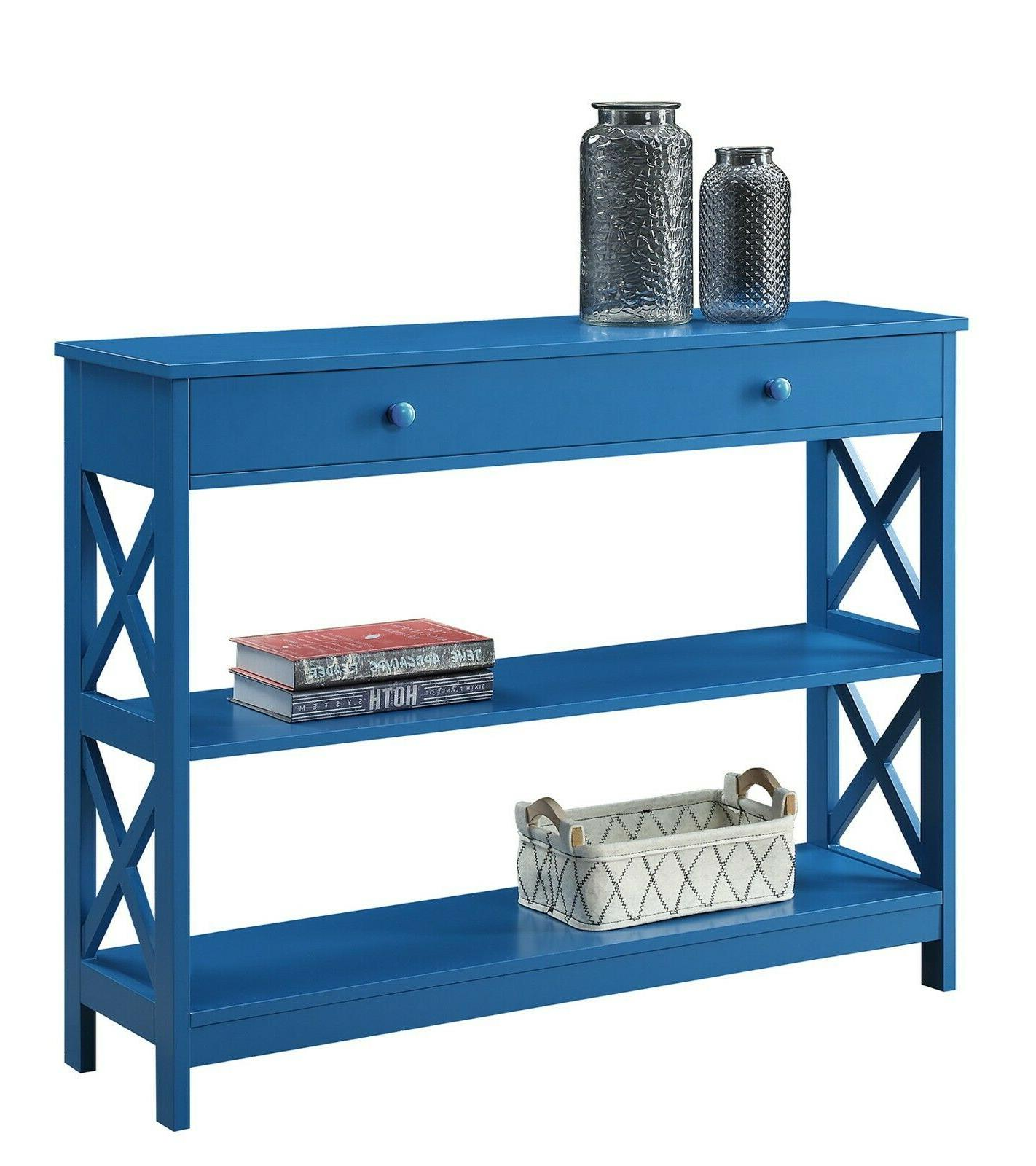 oxford console accent hall table with drawer