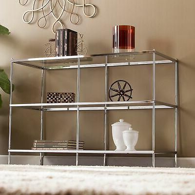 premium knox glam mirrored console table in