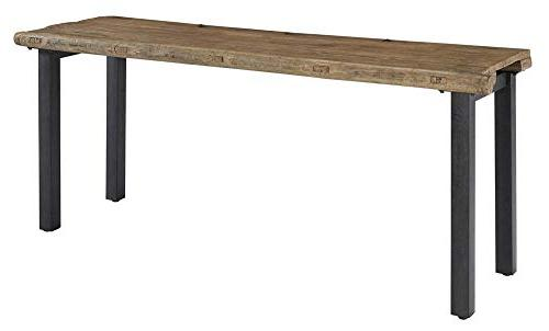reclaimed door console table distressed