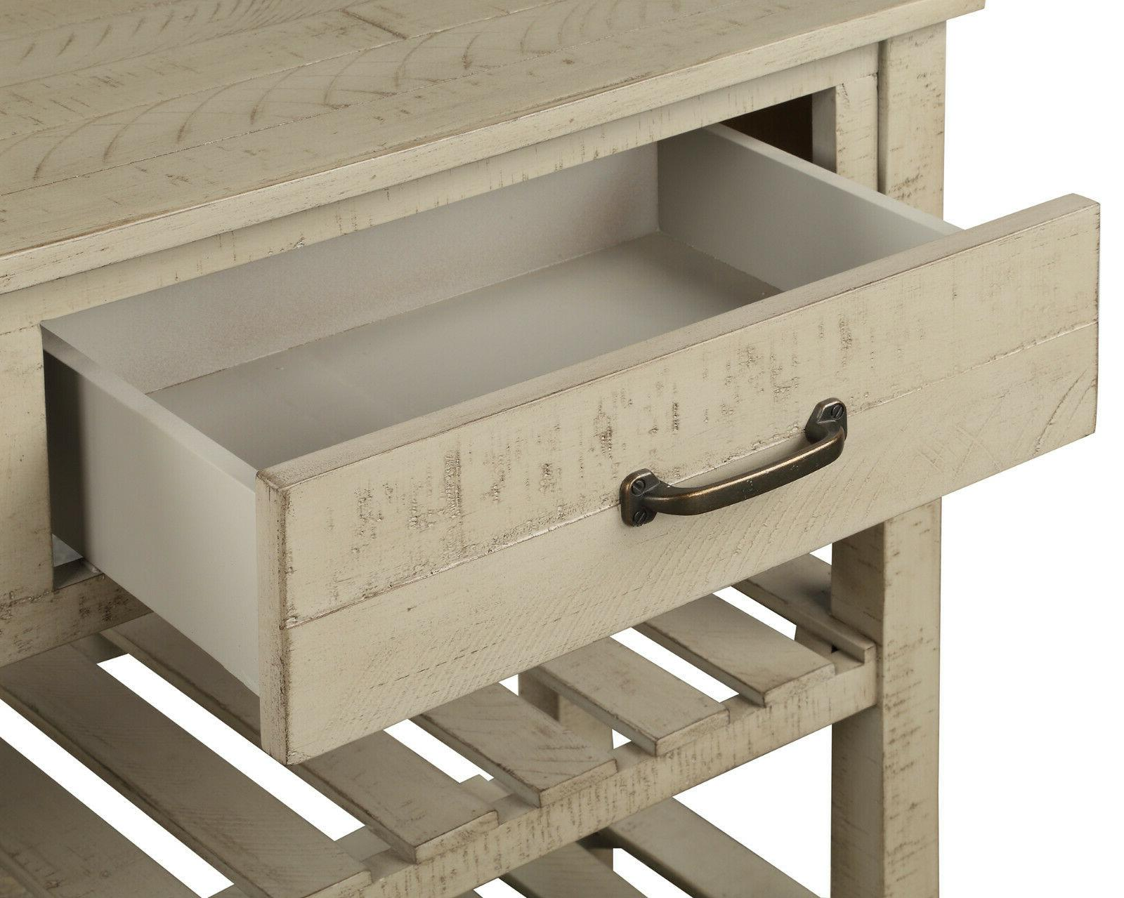 Retro Table Entryway Drawers and Shelf Room US