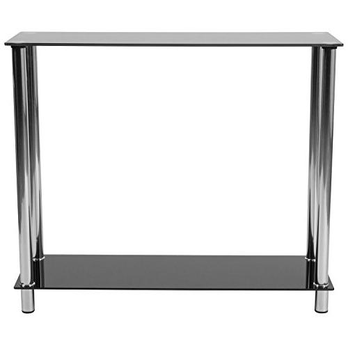 Flash Riverside Collection Black Console with Steel