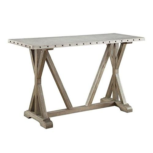 rustic console table driftwood