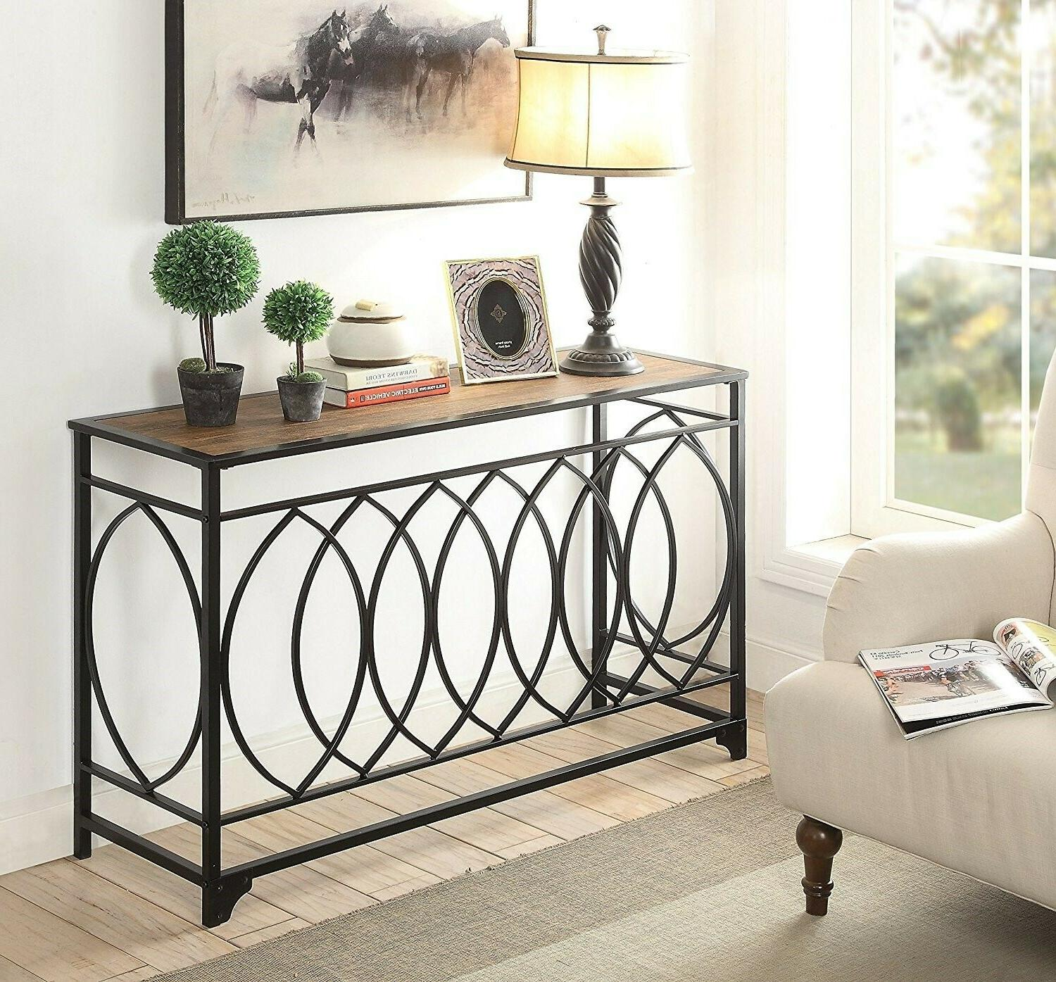 rustic console table furniture accent entryway hallway