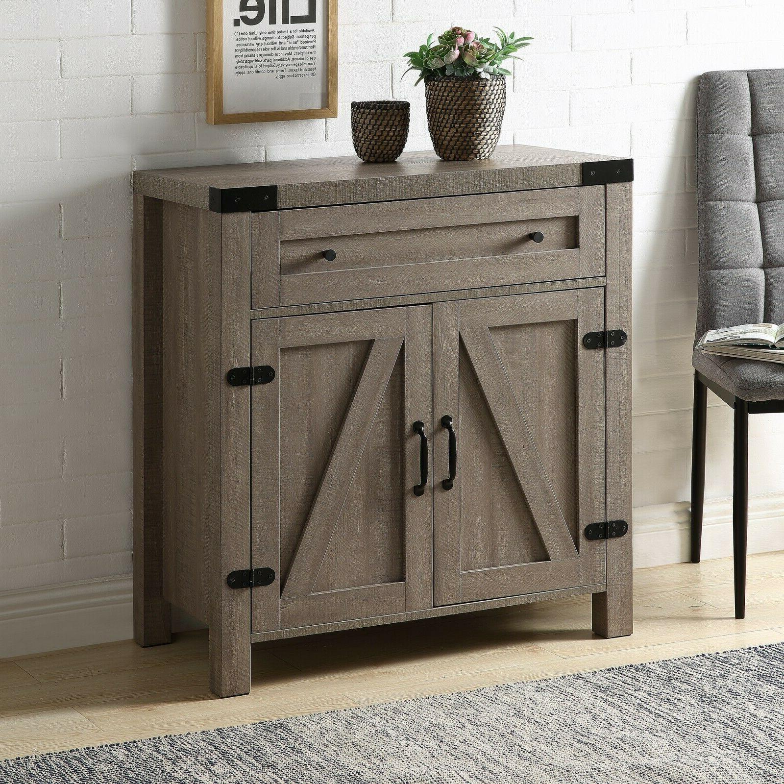 Rustic Console Side Table Retro Drawer US