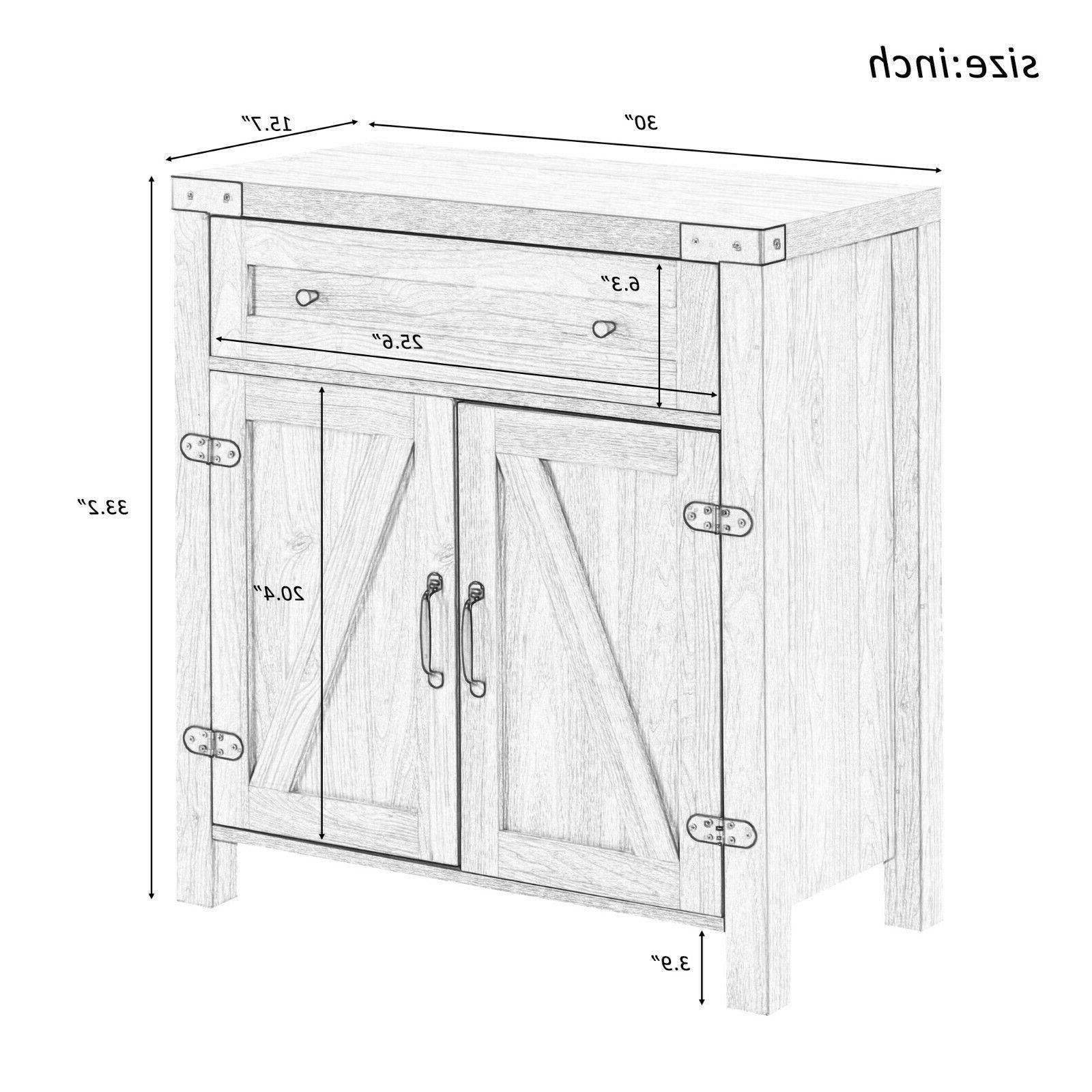 Rustic Console Side Table Drawer Storage Hallway