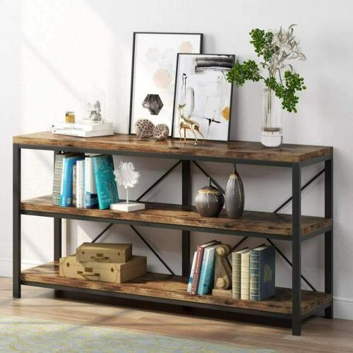 3 Shelf Entryway Table for Hallway Living Room Behind