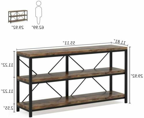 3 Shelf Console Table for Living Room