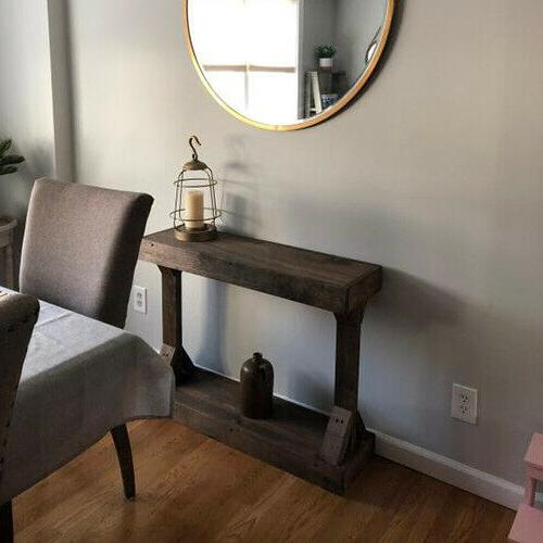 Rustic Console Solid Accent Entryway