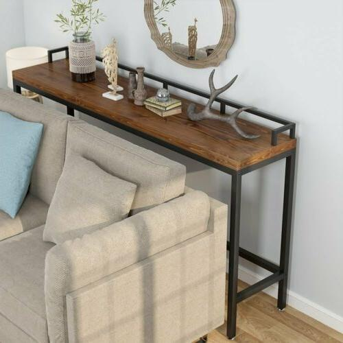 Brown Console Table Rectangular Kitchen Pub Dining Coffee Ta