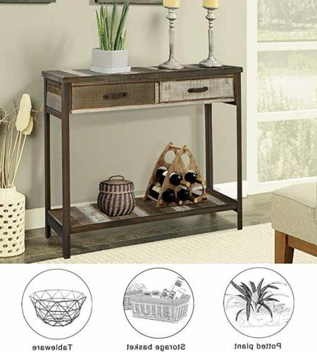 rustic solid wood sofa table console table