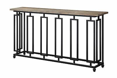 sherwood console table in aged brown 48168