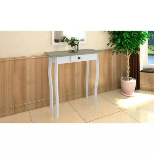 Side Hallway Wood Table with Drawer Living Furniture US