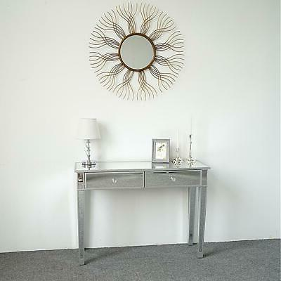 Modern 2-Drawers Table Silver