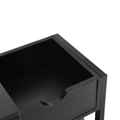 Simple Console Coffee Table W/Storage Cabinet US