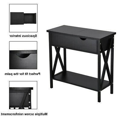 Simple Console SideTable Coffee Table W/Storage Cabinet